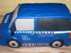 Dětský dort Modrá dodávka