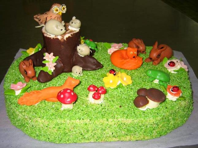 Dětský dort Palouk