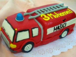 Dětský dort Hasiči
