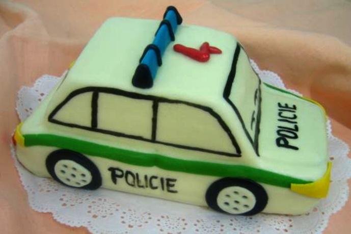 Dětský dort Policie