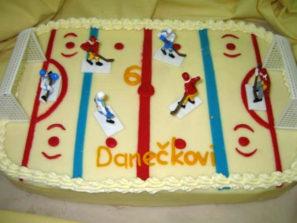 Dětský dort Hokej