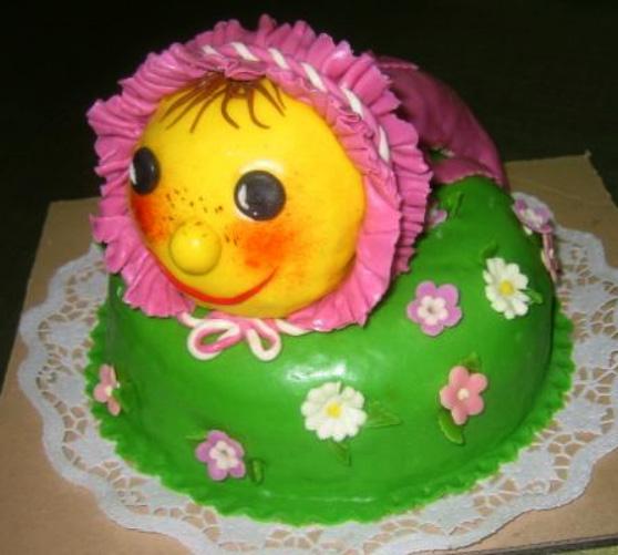 Dětský dort Žížala