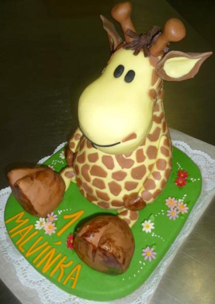 Dětský dort Žirafa