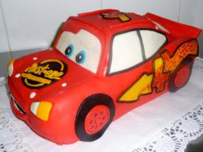 Dětský dort Červené auto