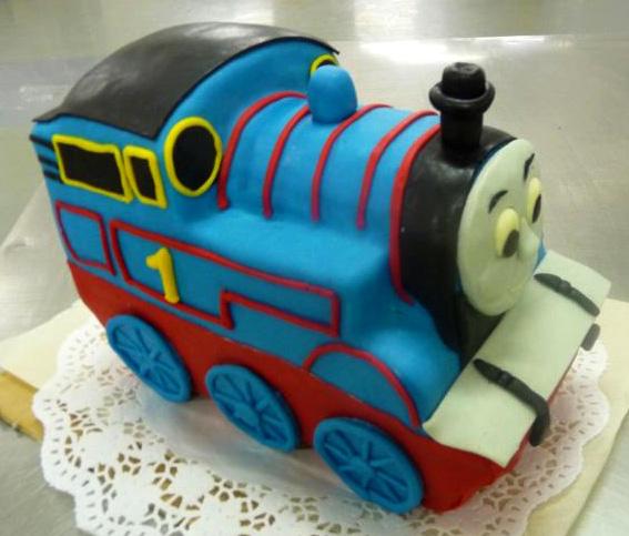 Dětský dort Modrá mašinka