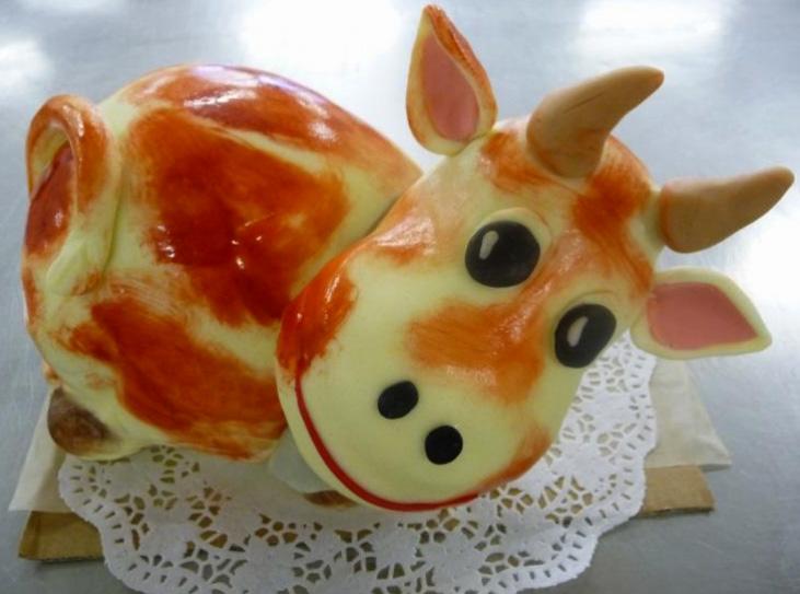 Dětský dort Kráva