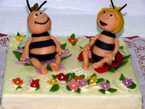 Dětský dort Mája a Vilík