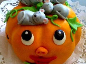 Dětský dort Dýně a myši