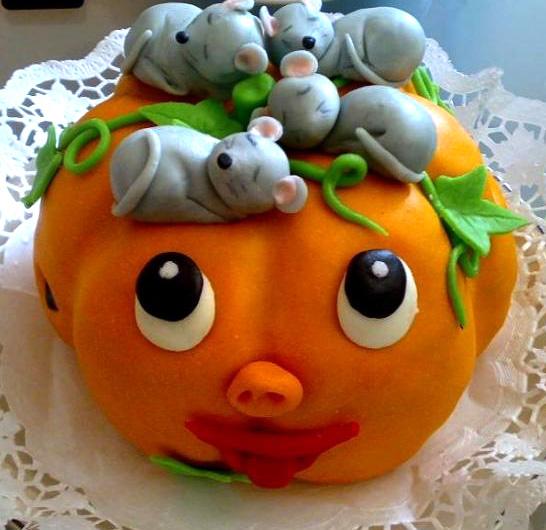 Dětský dort Dýně amyši