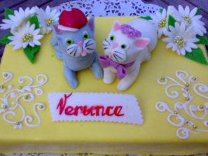 Dětský dort Kočky