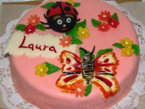 Dětský dort Motýl a Beruška