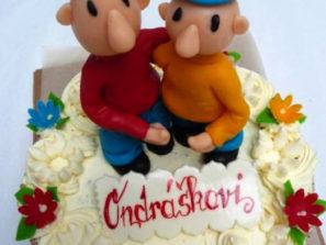 Dětský dort Pat a Mat