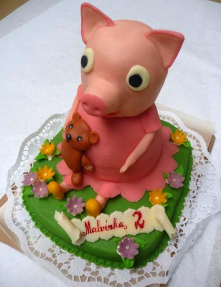 Dětský dort Prasátko