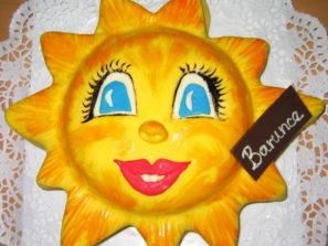 Dětský dort Sluníčko