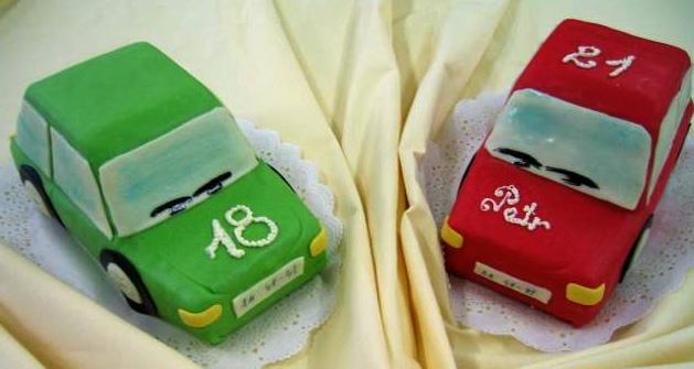 Dětský dort Autíčka
