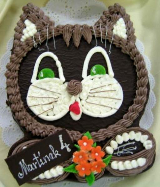 Dětský dort Kočka