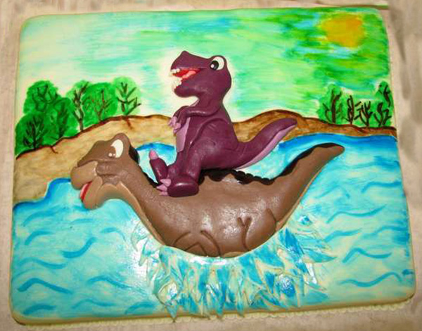 Dětský dort Lochnesska