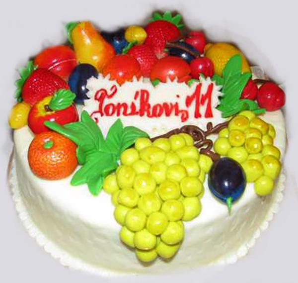 Dětský dort Ovoce