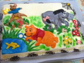 Dětský dort Medvídek Pu a prátelé