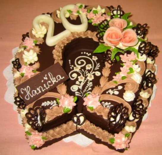 Klasický dort Podkova