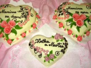 Klasický dort Tři srdce