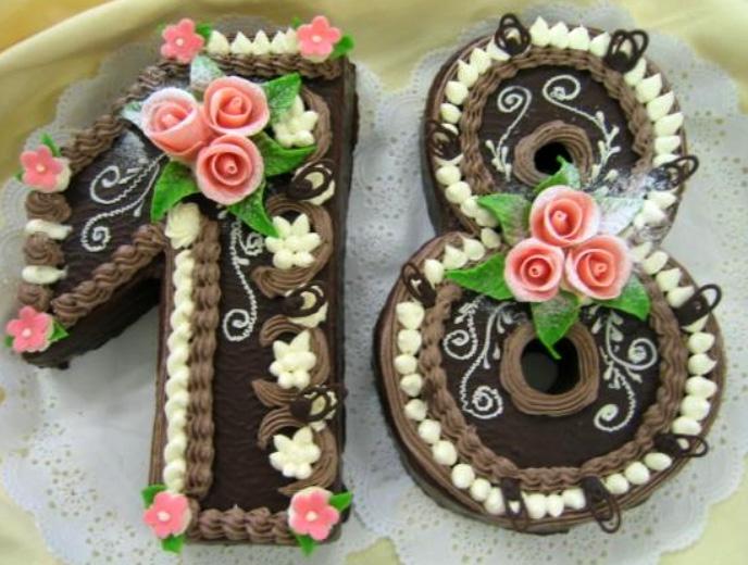 Klasický dort Osmnáct
