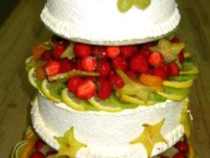 Svatební dort - mix ovoce