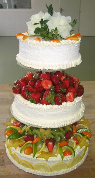 Svatební dort - směs ovoce