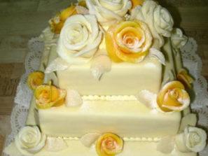 Svatební dort - čtverec