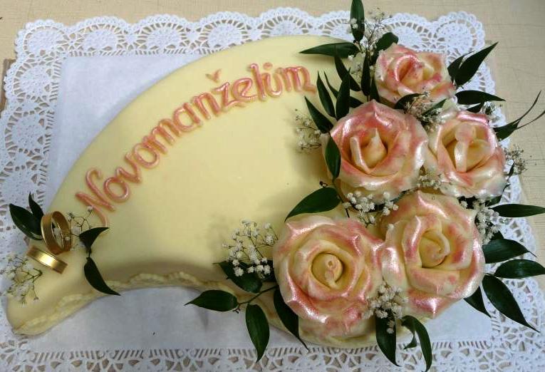 Svatební dort - novomanželům
