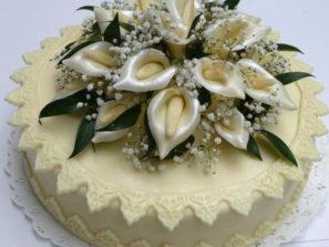 Svatební dort - bílé kaly