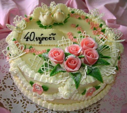 Svatební dort - 40. výročí