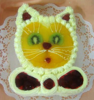 Ovocný dort Kočička