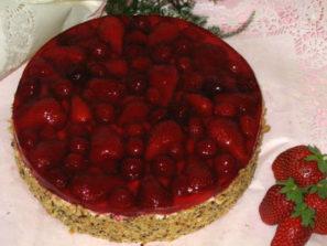 Ovocný dort Jahodový