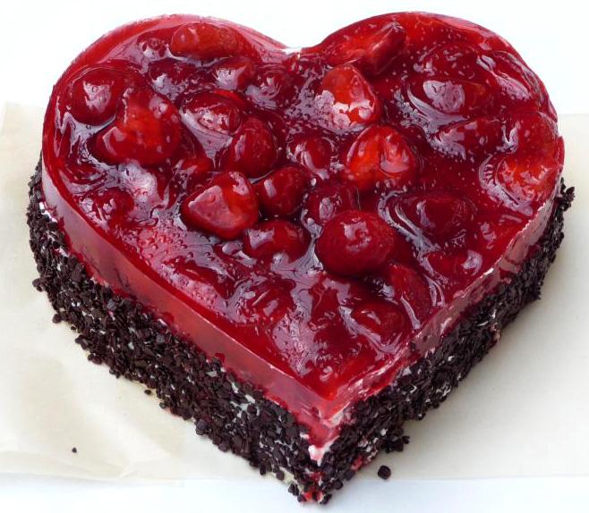 Ovocný dort Srdce a jahody