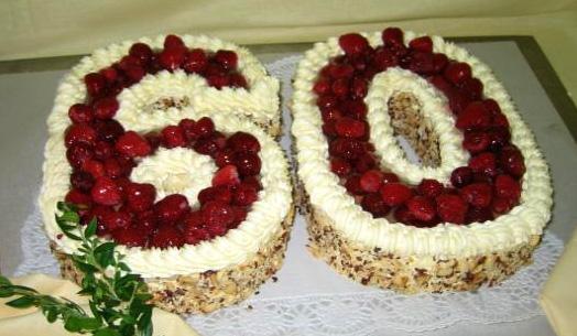 Ovocný dort Šedesát