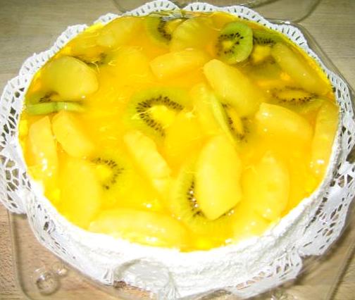 Ovocný dort Ananas a kiwi