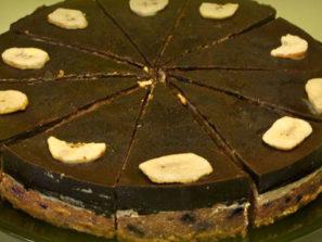 R-1079 Raw banánový dort s ovocem