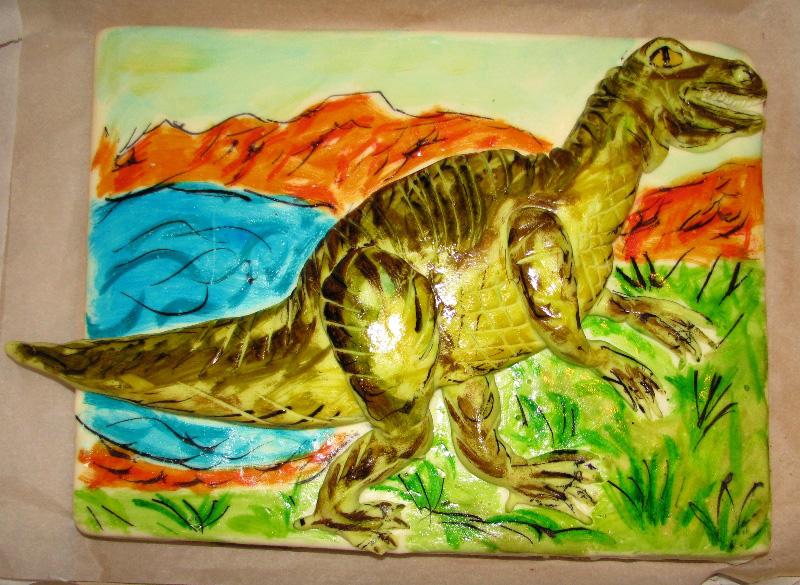 Dětský dort Tyranosaurus