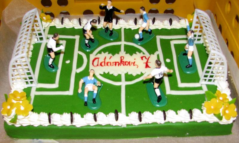 Dětský dort fotbal
