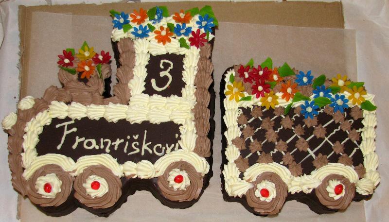 Dětský dort Vláček