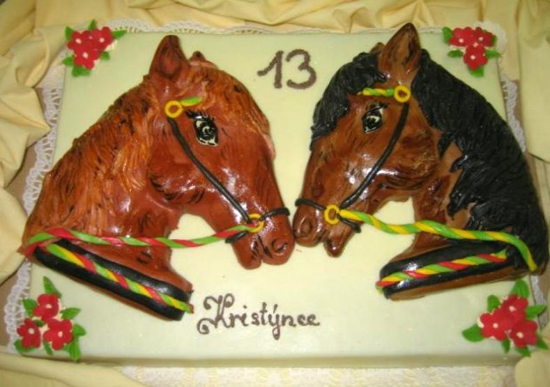 Dětský dort Koně