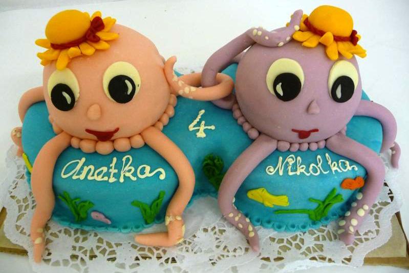 Dětský dort Chobotnice