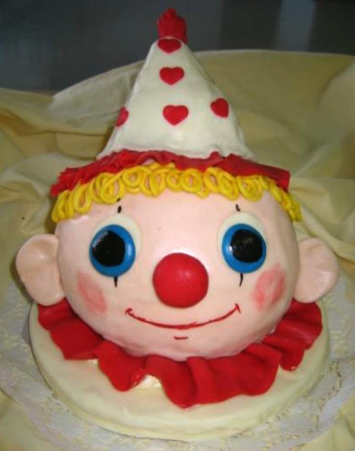 Dětský dort Klaun