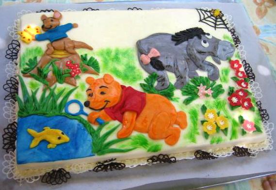 Dětský dort Medvídek Pu aprátelé