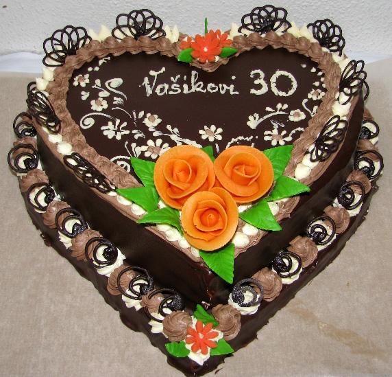 Klasický dort Dvojité srdce