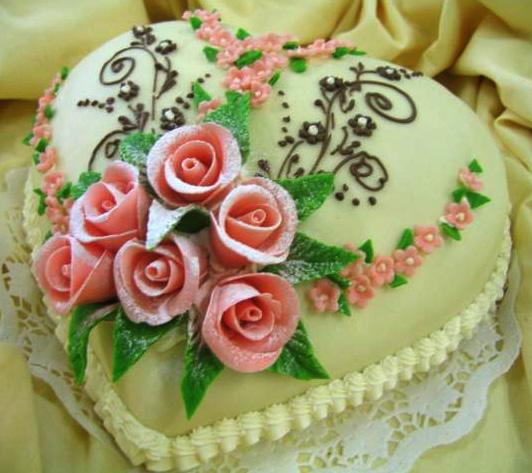 Klasický dort Srdce