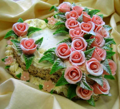 Klasický dort Růže