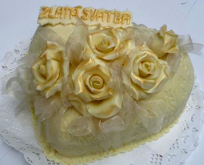 Svatební dort - zlatá svatba