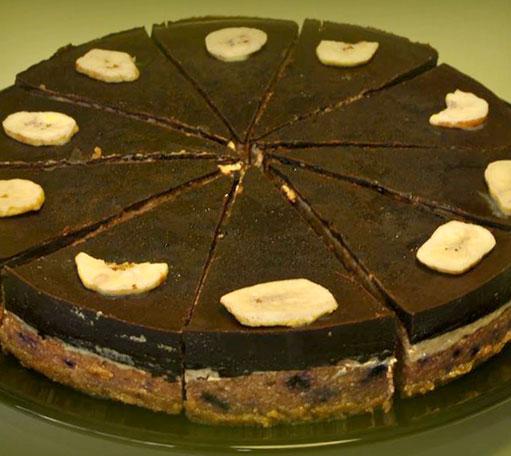R-1079 Raw banánový dort sovocem